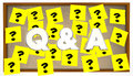 Q and A Questions Answers Sticky Notes Bulletin Board
