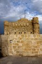 Qaitbay citadel in alexandria egypt the at the site of the former lighthouse of Stock Images
