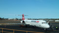 Qantas link a boeing at brisbane international airport Stock Photos