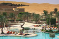 Qasr al sarab liwa sands desert resort near abu dhabi nestled amongst the sand dunes of the desert Royalty Free Stock Images