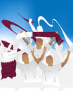 Qatar crowd Royalty Free Stock Images