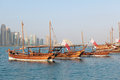 Qatar dhows on show Royalty Free Stock Image
