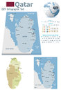 Qatar maps with markers set of the political and symbols for infographic Stock Photo