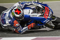 Qatar motogp doha april yamaha factory jorge lorenzo races to victory in the first moto gp race on april in doha Stock Image