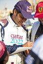 Qatar Rally racer Stock Photography