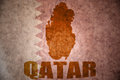 Qatar vintage map