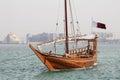 Qatari pleasure dhow Royalty Free Stock Photo