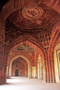 Qila i kuna mosque purana qila new delhi interior of india Royalty Free Stock Photography