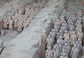 Qin dynasty terracotta army xian sian china Stock Image