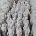 Qin dynasty terracotta army xian sian china Stock Photos