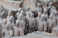Qin dynasty terracotta army xian sian china Royalty Free Stock Images
