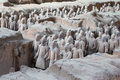 Qin dynasty terracotta army xian sian china Stock Images