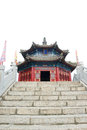 Qing dynasty pagoda the first emperor of the in china kuandian Stock Image