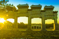 The qing tombs in beijing china Royalty Free Stock Photo
