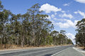 Qld country road empty sealed in the queensland outback Stock Photo