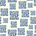 QR Barcode Seamless Pattern Royalty Free Stock Photo