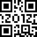 Qr code 2012 Royalty Free Stock Photos