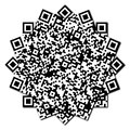 QR code abstract pattern Stock Image