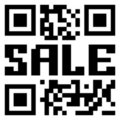 QR Code für Feld im Verkauf. ENV 8 Lizenzfreie Stockbilder