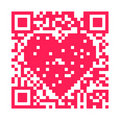 QR Code - Heart Royalty Free Stock Photography