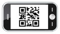 QR Code Scanning. Royalty Free Stock Images