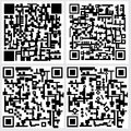 Qr code a set of four on grey background Stock Photography