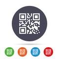 Qr code sign icon. Scan code symbol.