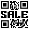 QR code voor punt in verkoop. EPS 8 Royalty-vrije Stock Afbeeldingen