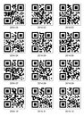 Qr code about year vector on white Stock Photo