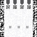 Qr coded website template design with description Royalty Free Stock Photography