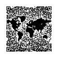 QR de kaart van de Wereld van de code Stock Afbeeldingen