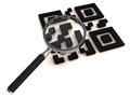 QR with lens Royalty Free Stock Photography