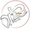 Quack elephant line art design Stock Photo