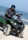 Quad on a beach (ATV) Royalty Free Stock Photo