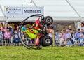 Quad bike rolling stunt.