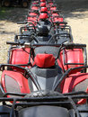 Quad bikes atv in row Stock Photography