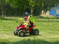 Quad riding Royalty Free Stock Photography