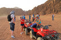 Quad trip in Sinai mountains of Egypt Stock Images