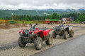 Quad trip in tatra mountains near zakopane poland Royalty Free Stock Photo