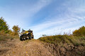 Quadbike on the hill Royalty Free Stock Photo