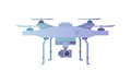Quadcopter aerial drone with camera.