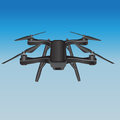 Quadcopter in the sky