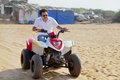 Quading on Goan Beach Royalty Free Stock Image