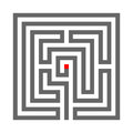 Quadrate heathen Labyrinth Symbol isolated on white background