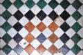 Quadratic floor tiles in medina of Fez, Morocco Royalty Free Stock Photo