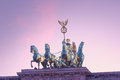 Quadriga berlin on the brandenburger tor in Royalty Free Stock Images