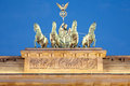Quadriga on Brandeburg Gate at night, Berlin Stock Photography