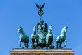 Quadriga on the Brandenburger Tor Royalty Free Stock Photo