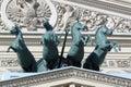 Quadriga of horses. Royalty Free Stock Photo