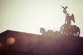 The Quadriga on top of the Brandenburg gate, Berlin Royalty Free Stock Photo